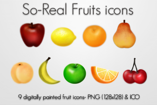 So-Real Fruits icons