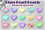 Glass Hearts -Pastel Pearl-