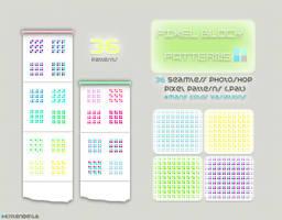 Pixel Block Patterns by kittenbella