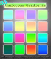 Analogous Gradient Set by kittenbella
