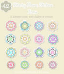Kitschy Flower Stickers Icons