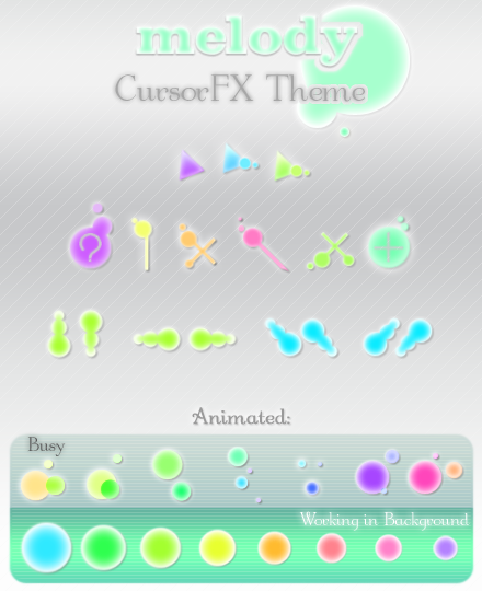 MeLoDy CursorFX Theme by kittenbella on DeviantArt