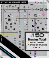 Bitty Pixel Brushes -Set2- by kittenbella