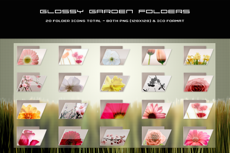 Glossy Garden Folders by kittenbella