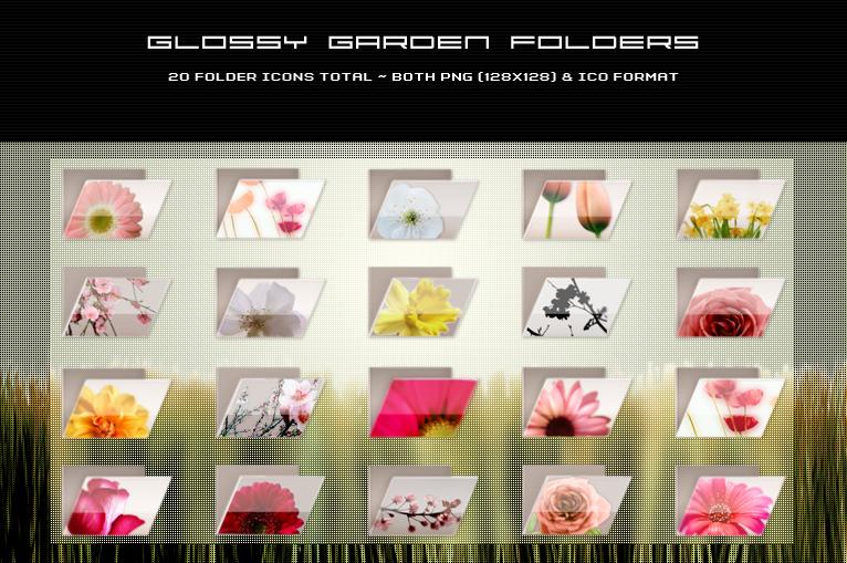 Glossy Garden Folders by kittenbella