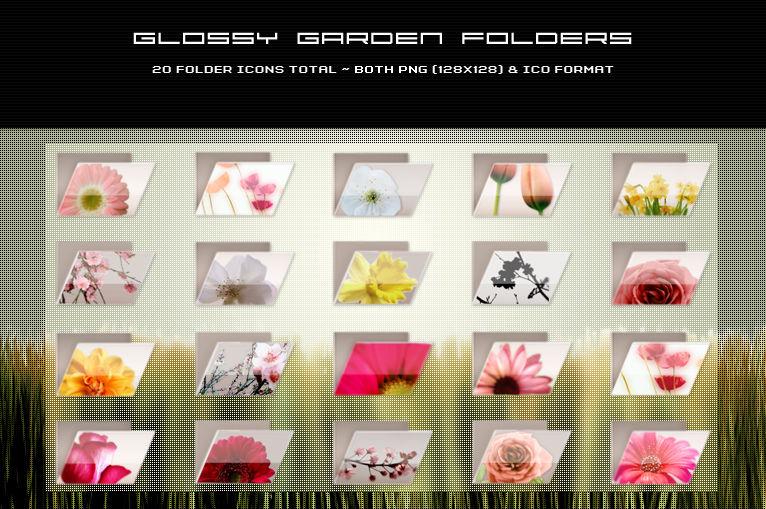 Glossy Garden Folders