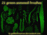 21 green seaweed brushes