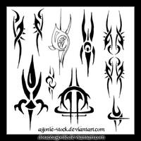 agonie-brushes Tribalx10 by Agonie-Stock