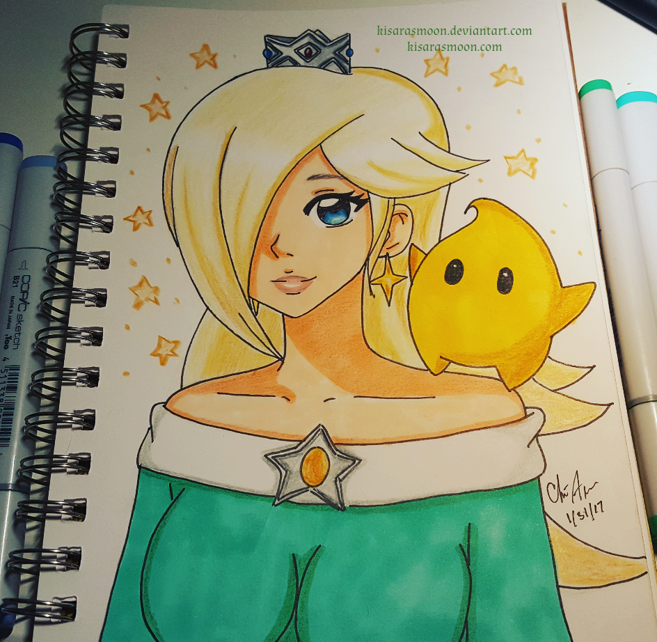 Rosalina and Luma by Kisarasmoon
