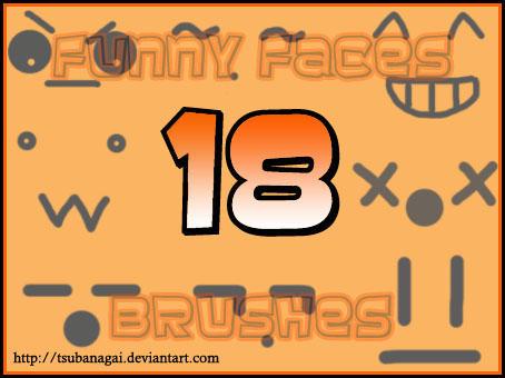 18 Funny Faces Brushes by tsubanagai