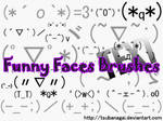 TEXT funny faces brushes
