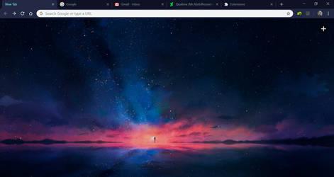 Chrome Material Dark Theme - Space