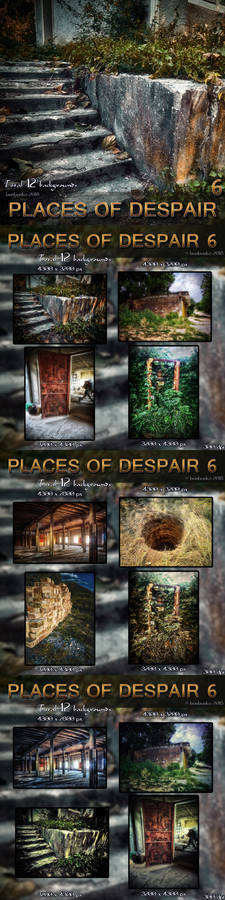 Places of Despair 6 - 12 Stock Backgrounds Pack