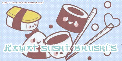 Kawai sushi brushes