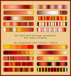 Red and Orange gradient pack for Ultra Fractal by Velvet--Glove