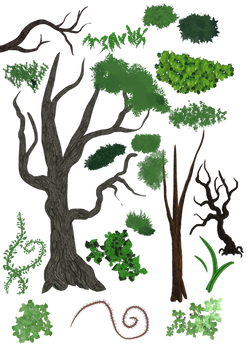 Brushes: Trees, Plants and Grass