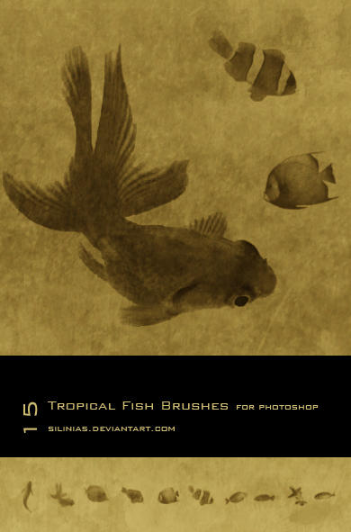 Tropical Fish Brushes PS by silinias