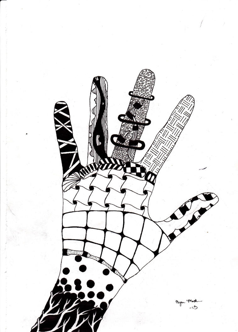 Zentangle Hand by amam...