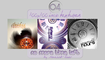 No more time left - Icon Textures by missb-luv