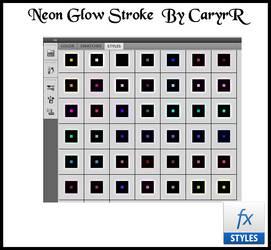 Neon Glow Stroke   By Cary R