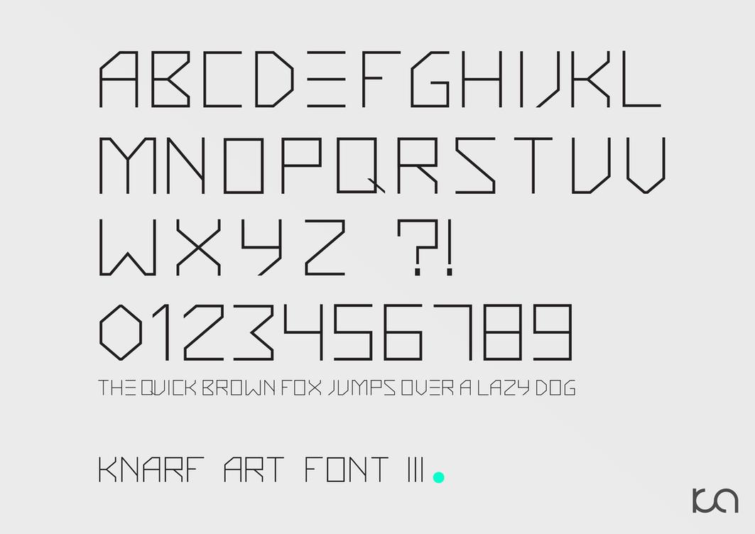 Knarf Art Font 3 by Knarfart