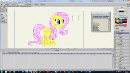 A better Fluttershy puppet rig, Anime Studio