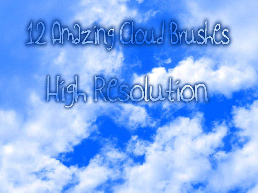 12 High Res. Cloud Brushes by christalynnebrushes