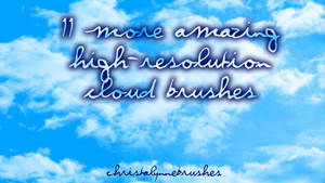 11 More High Res Cloud Brushes