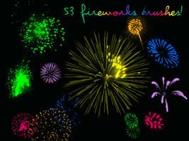 53 Fireworks Brushes by christalynnebrushes
