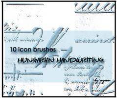 HungarianHandwritingIconBrush by nyaubaby