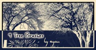 Tree Brushes by nyaubaby