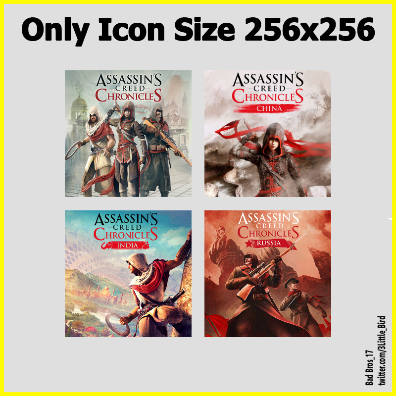 Assassins Creed Chronicles Pack Icon Only By Birdy2014 On Deviantart