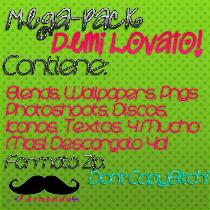 Mega Pack Demi Lovato zip by FernandaaEditions