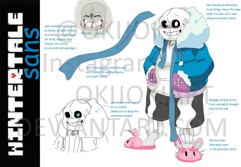 Wintertale Sans Character Outline by okijoki on DeviantArt