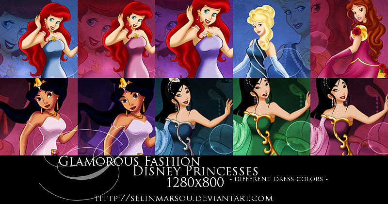 GF Princesses - different colors wallpaper set by selinmarsou