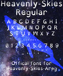 Heavenly Skies-Regular Font by Mother-Maloc