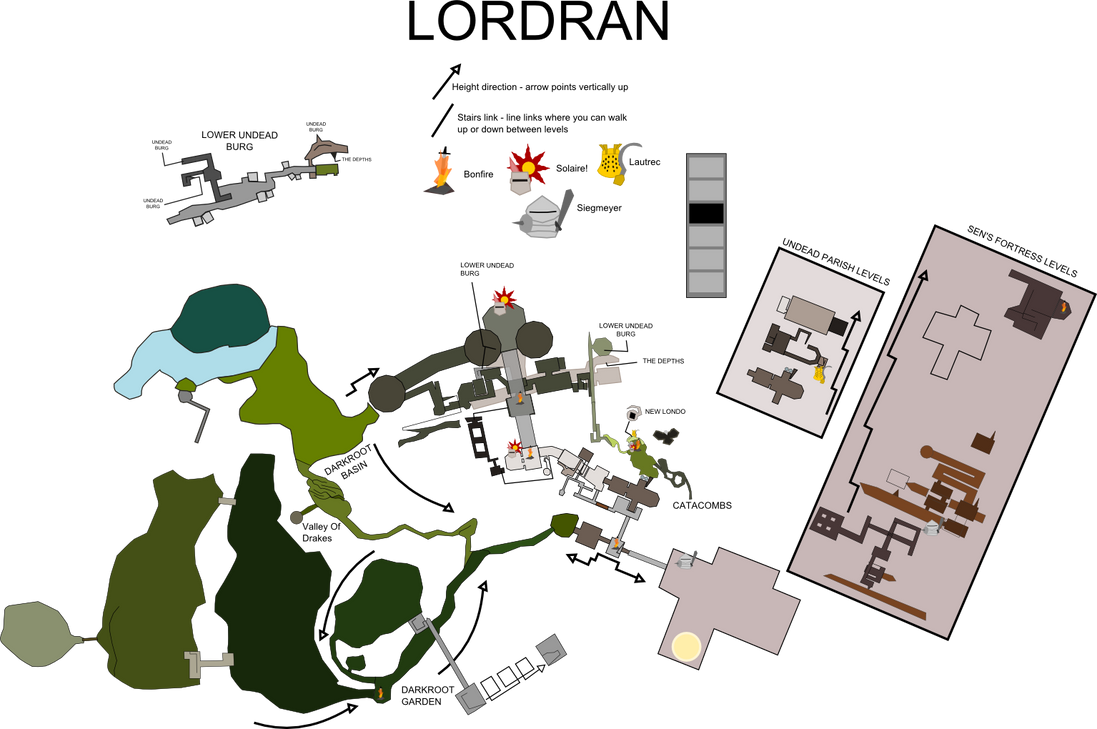 Dark Souls World Map - Adandoned by BigHandInSky on DeviantArt