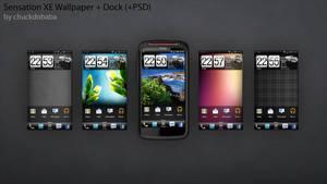 Sensation XE Wallpaper + Dock (+PSD)