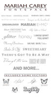 Mariah Carey - Font Pack