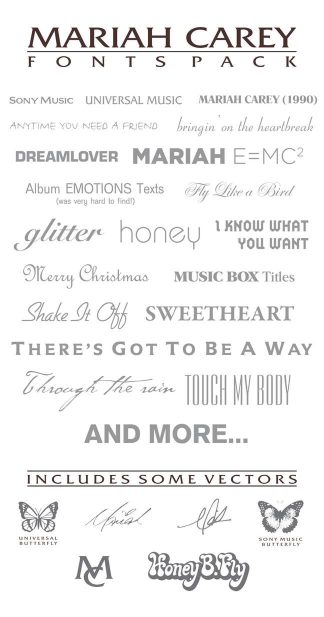 Fonts pack for picsart