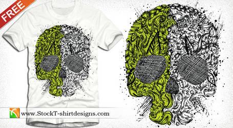 Skull Ornament Free Vector T-shirt Design Vector