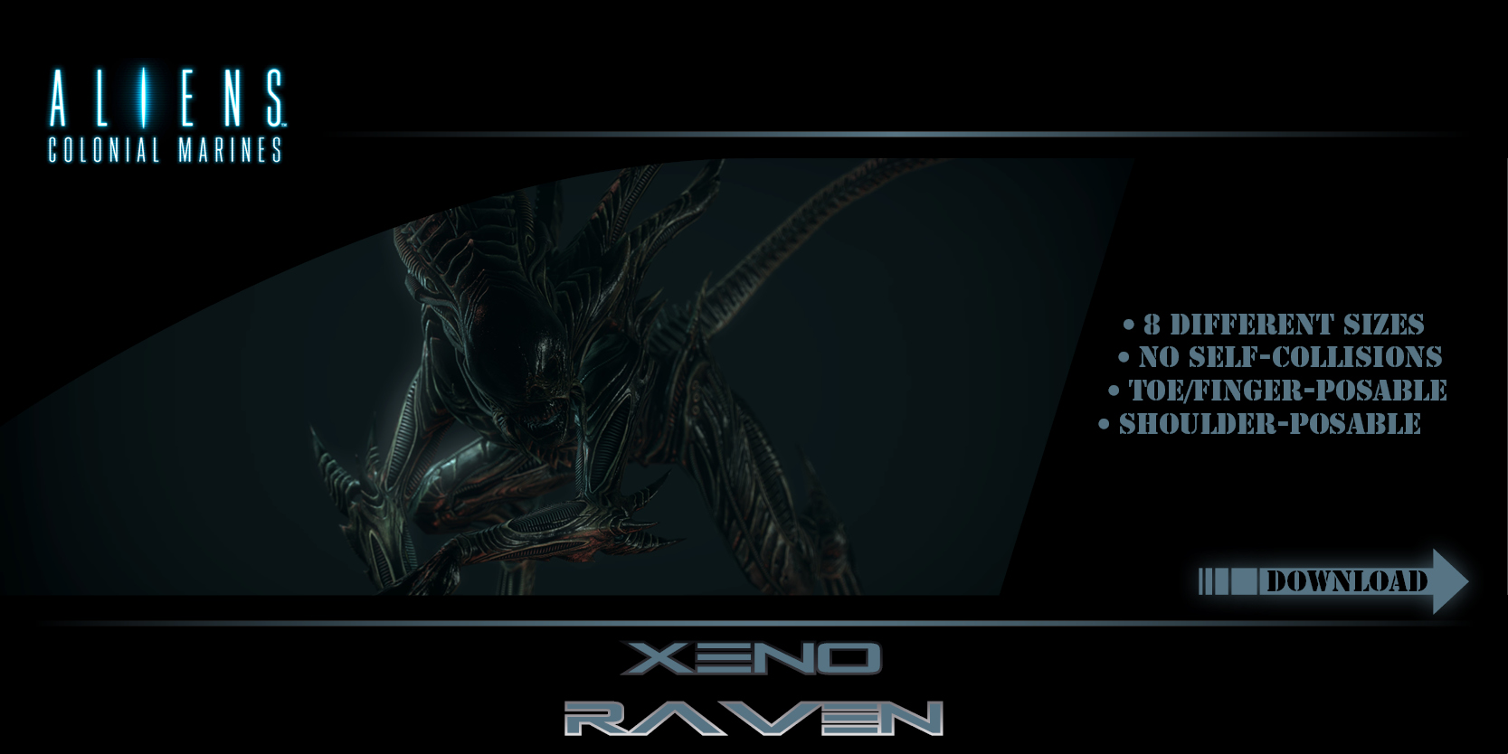 GMod Model - Xeno Raven by Mask1985