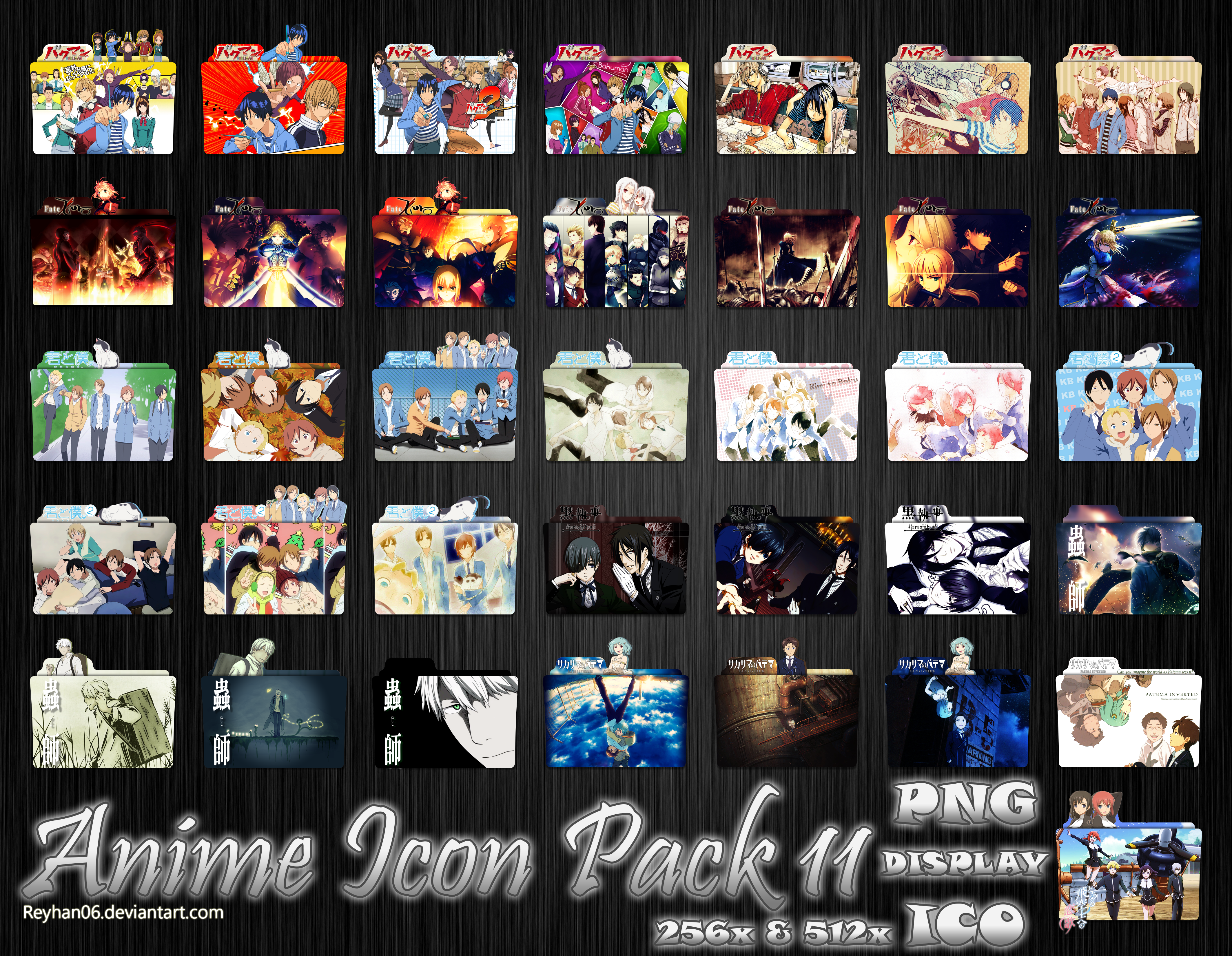 Anime Icon Pack  By Reyhan