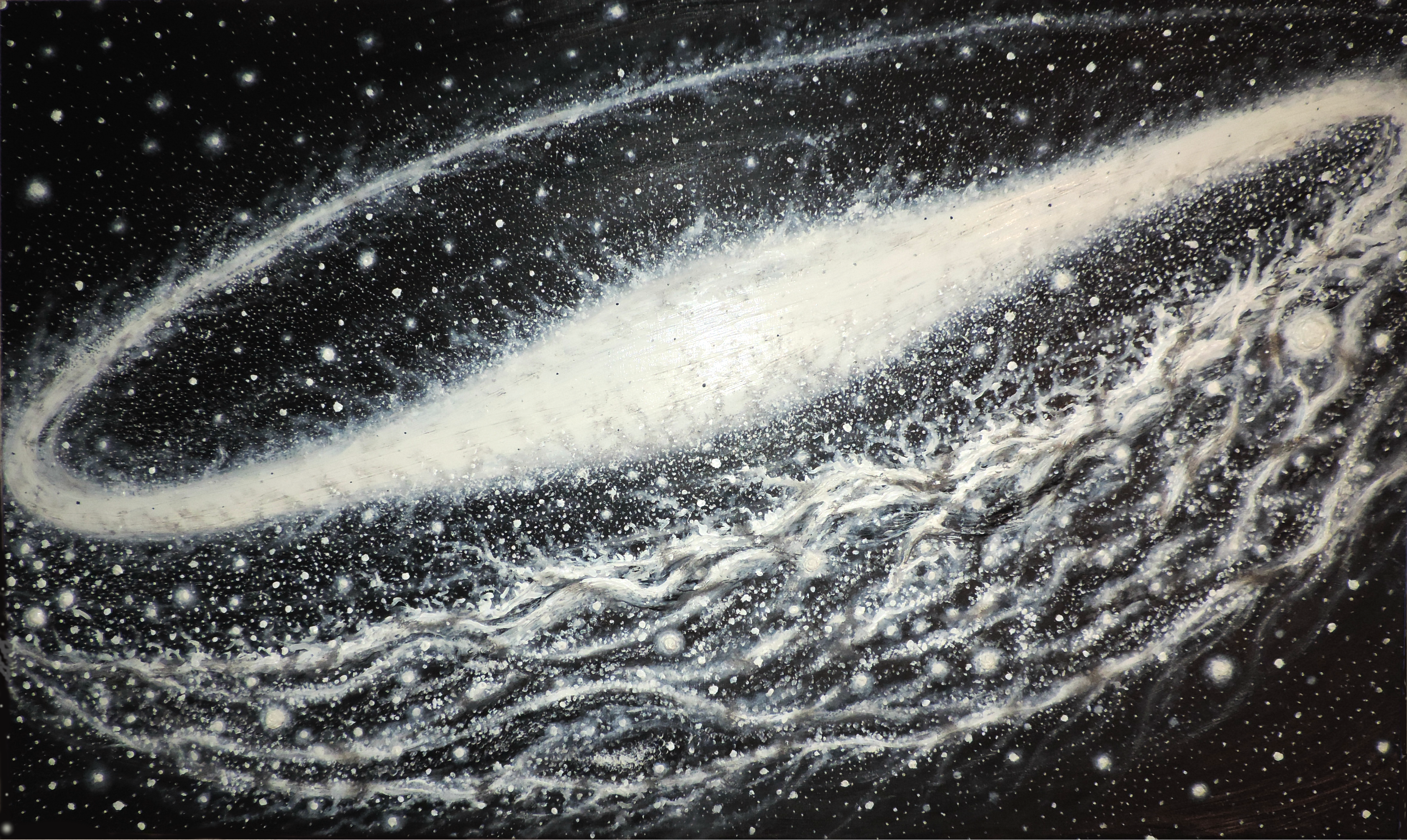 Spiral Black and White galaxy