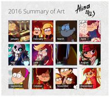 My 2016 Summary of Art! by AlinaCat923