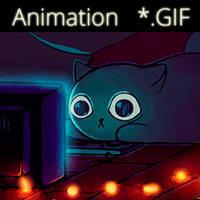 Nerd Cat by AlinaCat923