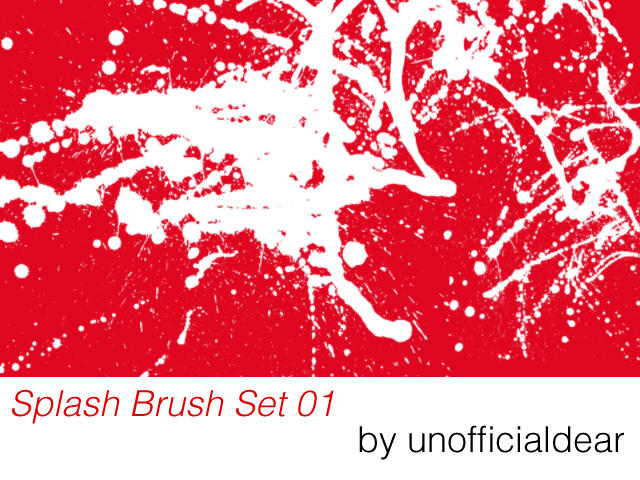 Splash Brush Set 01 by unofficialdear