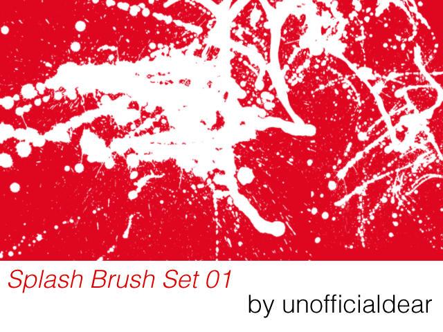 Splash Brush Set 01 by unofficialdear