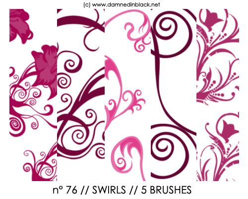 PHOTOSHOP BRUSHES : swirls
