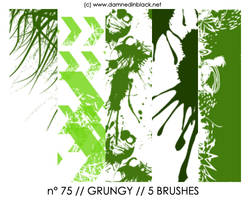 PHOTOSHOP BRUSHES : grungy by darkmercy
